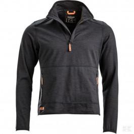 Sweatshirt med lynlås Active fleece koksgrå