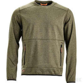 Sweatshirt O-hals Active fleece Oliven
