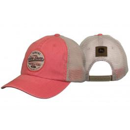 John deere pink net kasket