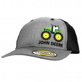John Deere børne kasket grå, sort net kasket