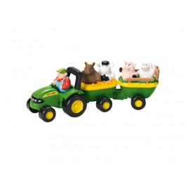 John Deere Traktor m/vogn med dyr og lyd
