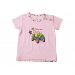 John Deere T-shirt baby pige lyserød