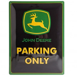 John Deere Parking Only metalskilt