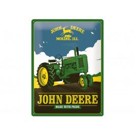"John Deere Metalskilt ""Made with pride"""