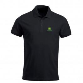 John Deere polo t-shirt sort str. 2XL