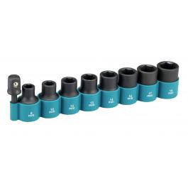 "Makita slagtoppesæt 1/4"" m/adaptor 1/2"" 8-18mm"
