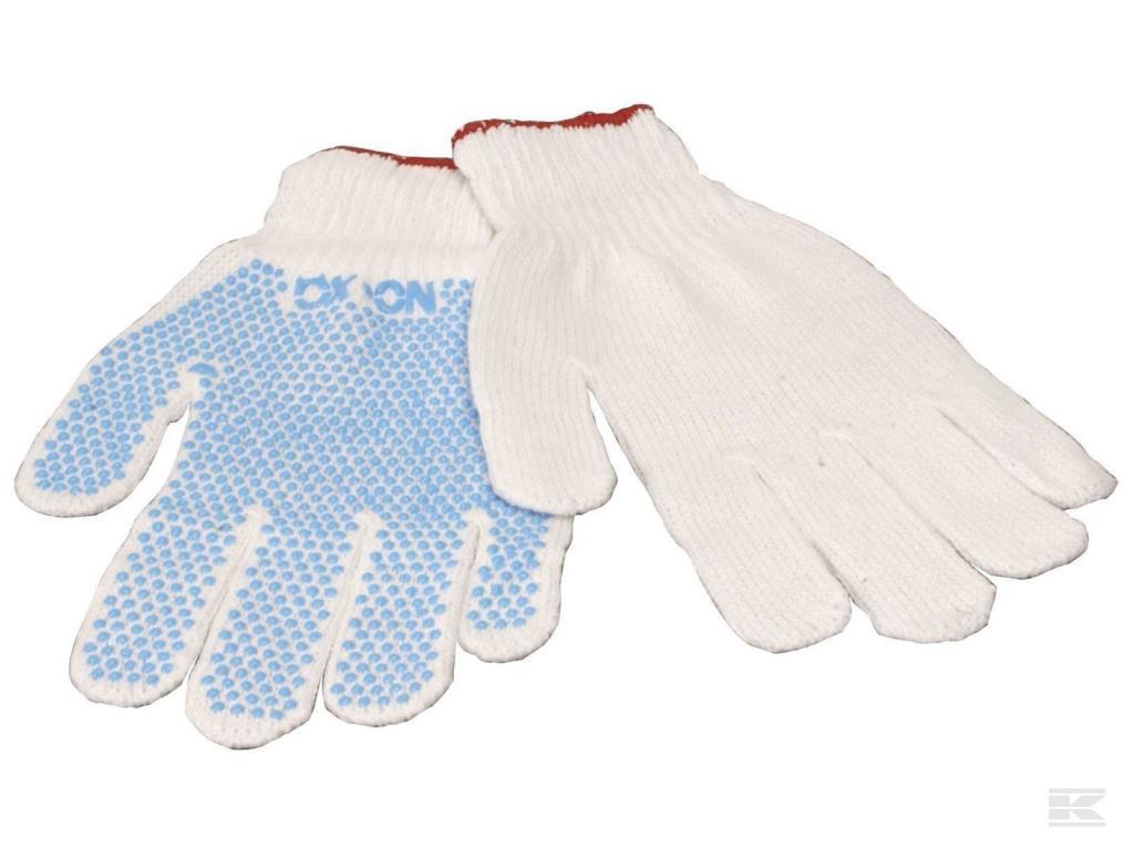 Strikhandske med dot polyester
