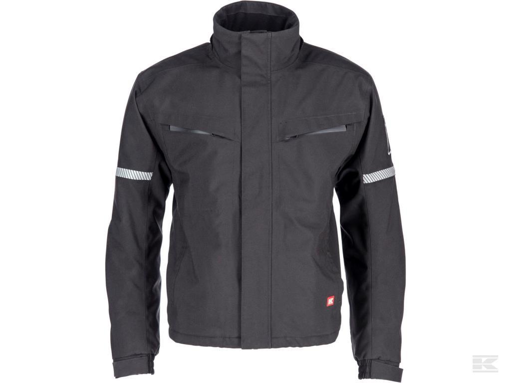 Sort jakke med hætte Original