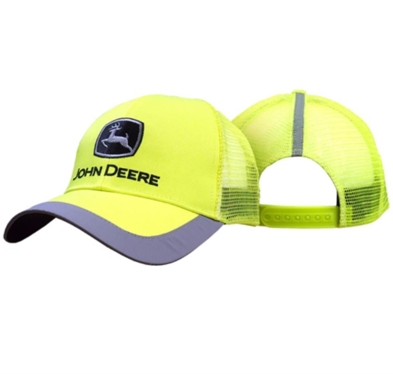 John Deere Kasket neon Gul m/refleks