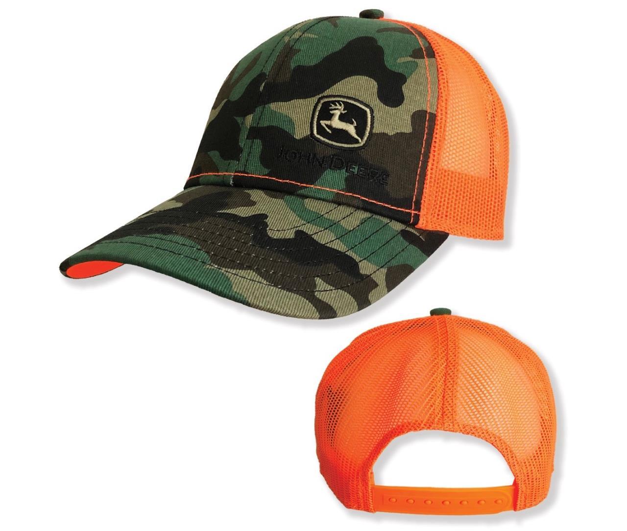 John Deere Camo Kasket m/orange net