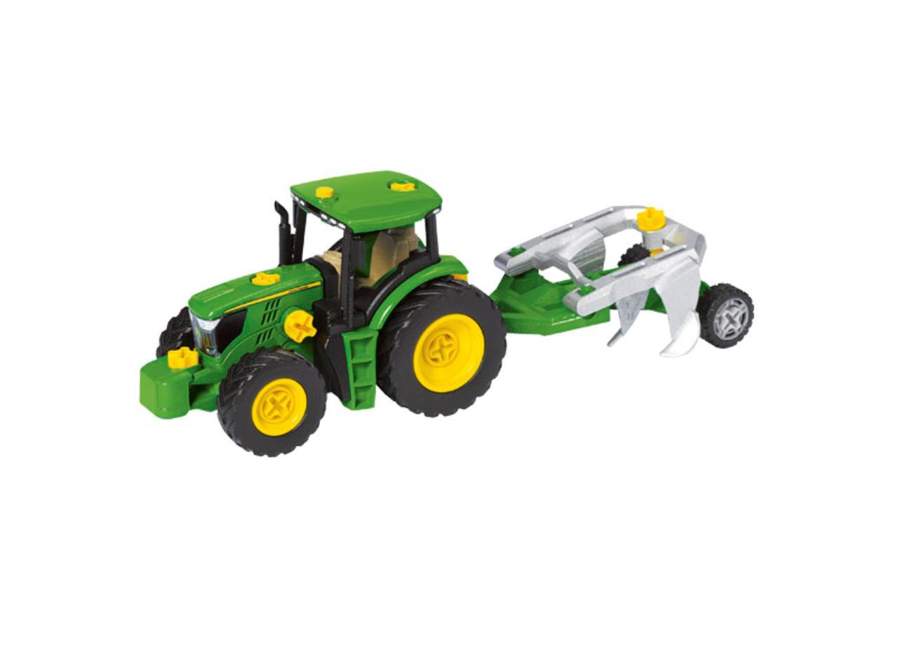 Byggesæt - traktor med forskellige vogne og plov
