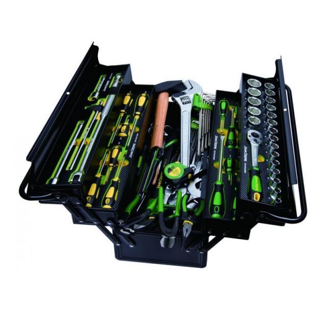 John Deere Værktøjskasse m/114 stk værktøj
