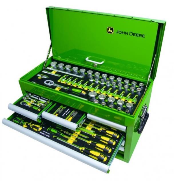 John Deere værktøjskasse m/Værktøj