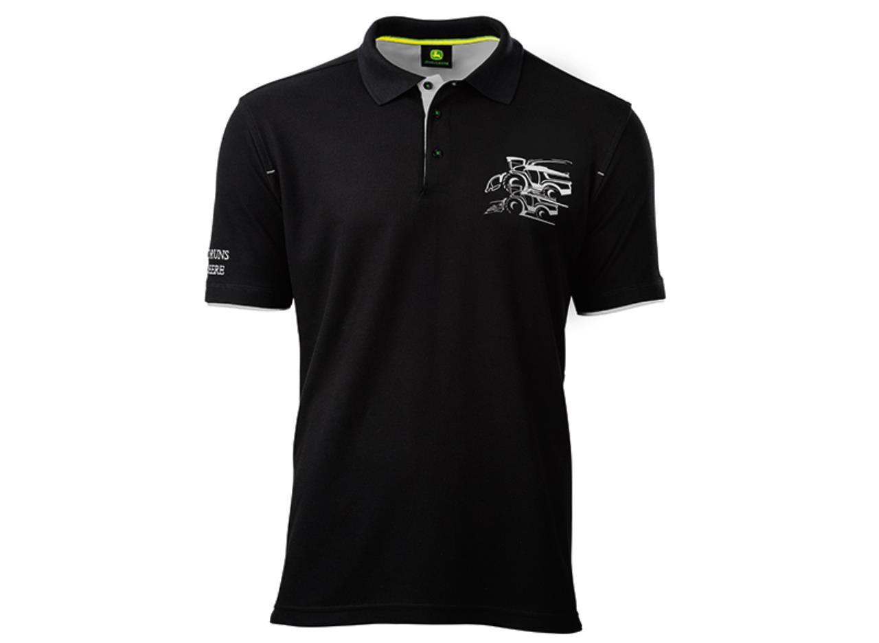 John Deere Polo T-shirt m/snitter 8500