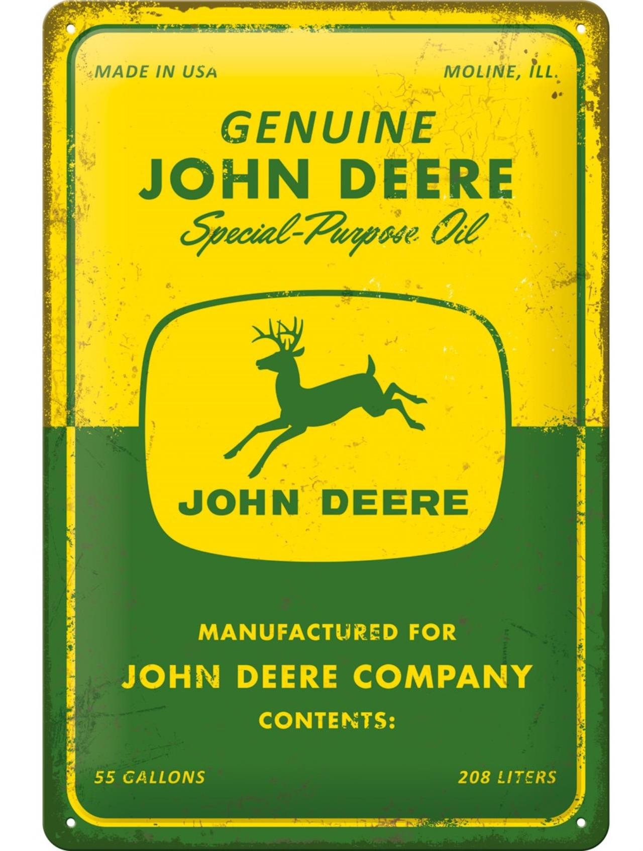 "John Deere Skilt ""Special-Purpose Oil"""
