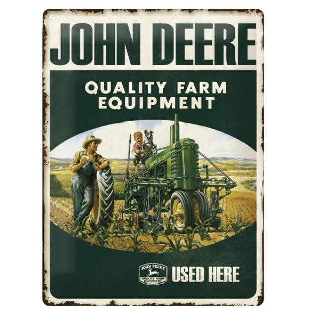 John Deere Quality Farm metalskilt