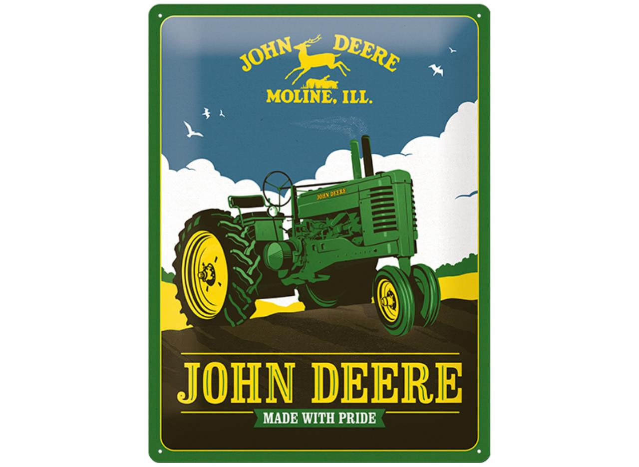 "John Deere Metalskilt ""Made with pride"""
