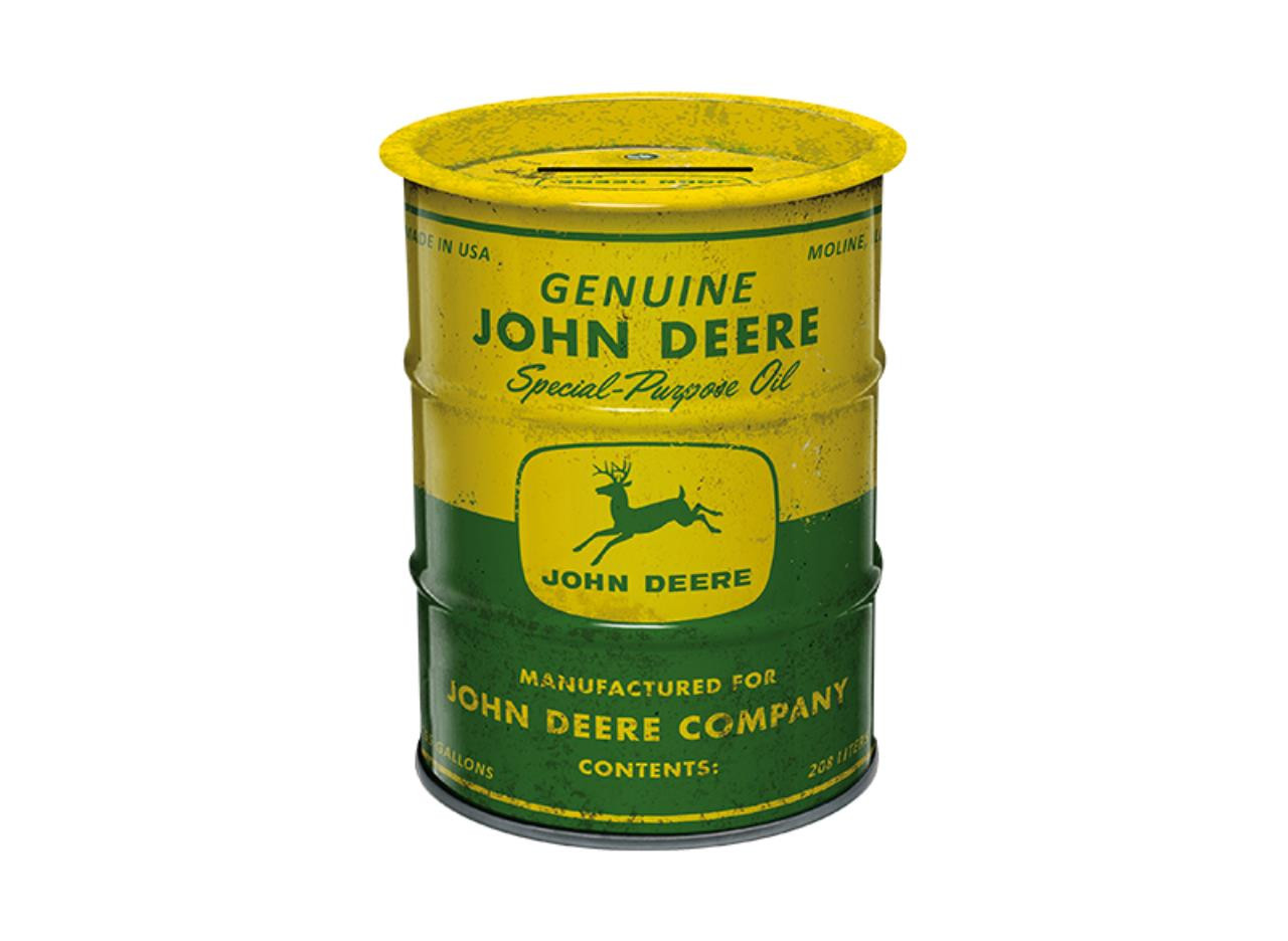 John Deere Olie Tønde Sparebøsse