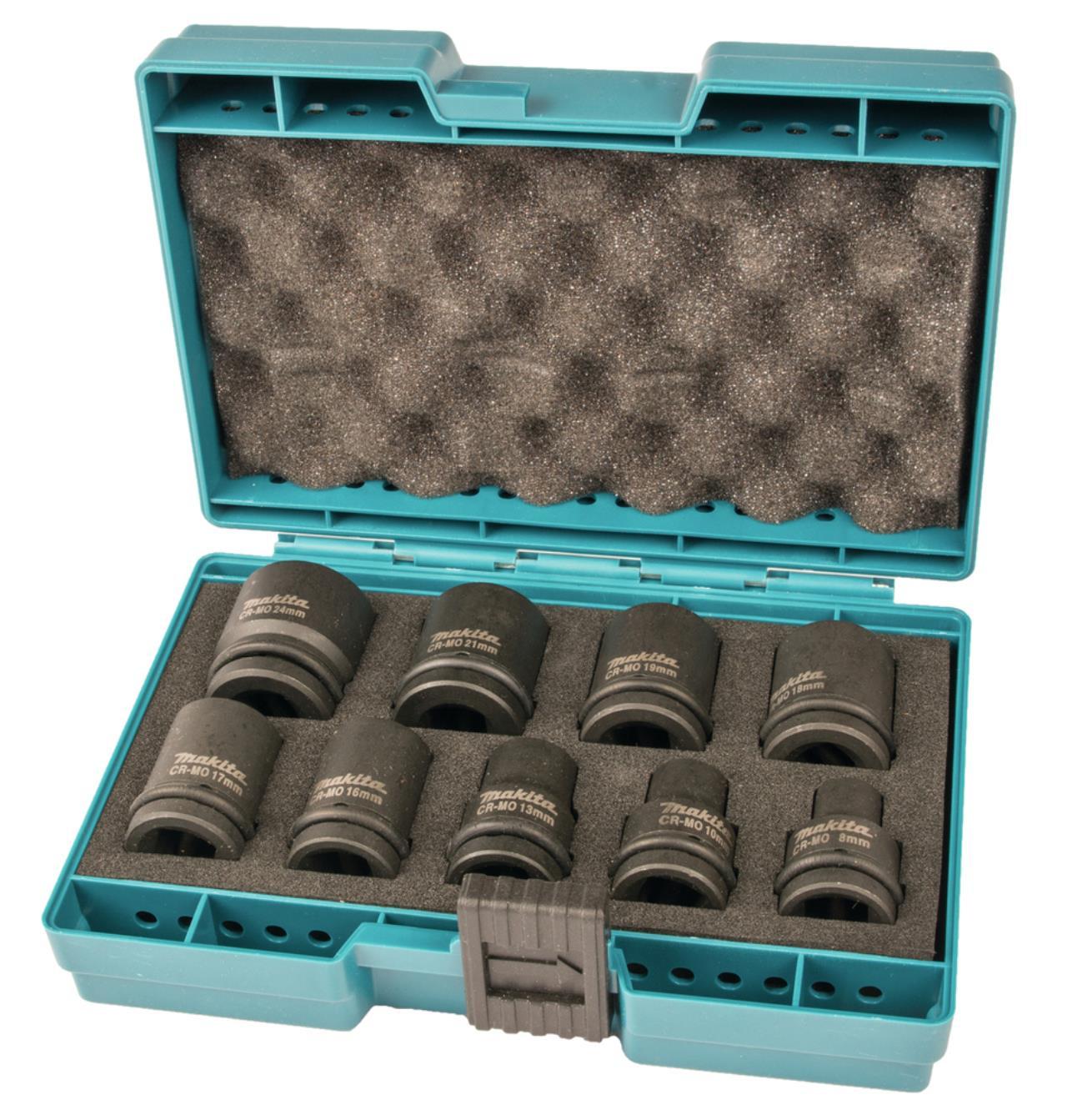 """Slagtopsæt ½""""  9 stk. TILBUD 8,10,13,16,17,18,19,21,24mm"""